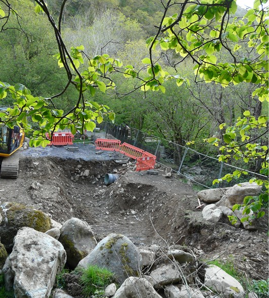 Excavation for the turbine base 14 May 2015