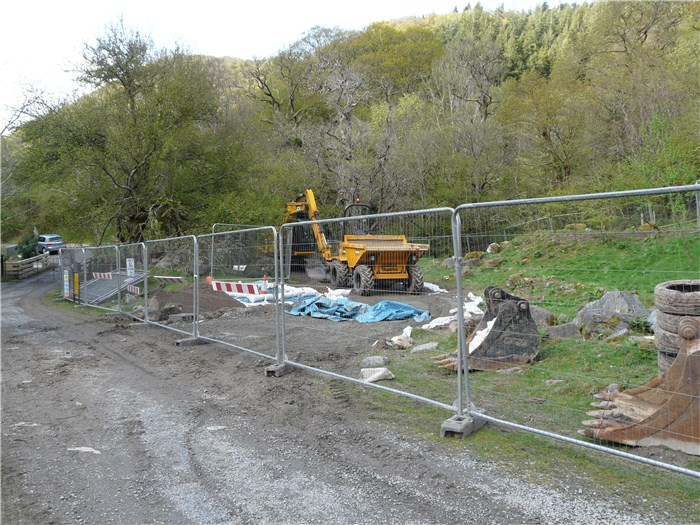 The access track to the Turbine House goes in 7 May 2015