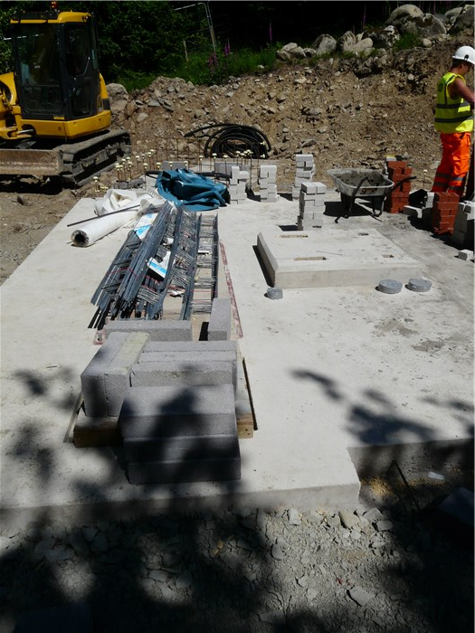 The base for the generator is cast 23 June 2015