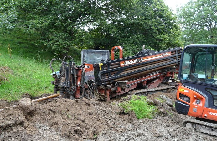 Drilling for the grid connection cable begins 2 Sept 2015