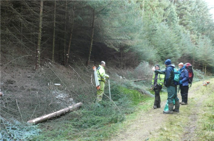 Work begins Clearing the pipeline route in Coedydd Aber Forest  3 March 2015