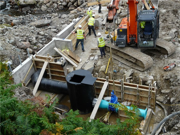 The pipework and the valve are installed 21 Aug 2015