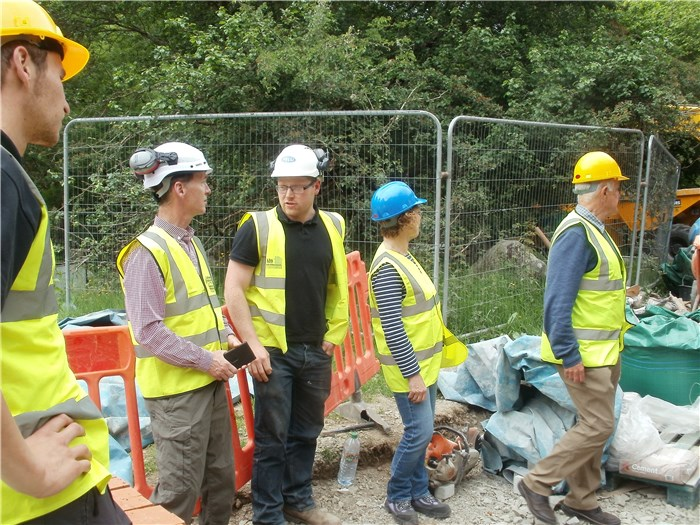 Emyr Roberts CEO of NRW visits the Anafon Hydro 25 June 2015