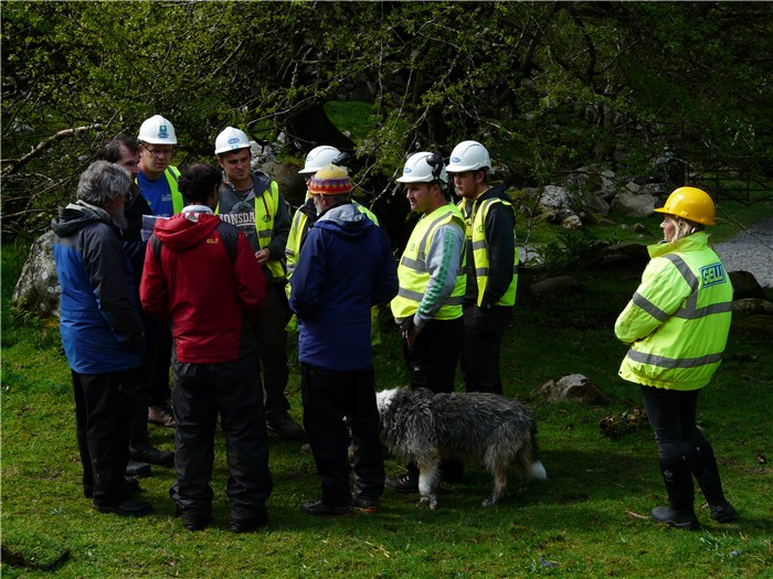 The contractors arrive on the Turbine House site 5 May 2015
