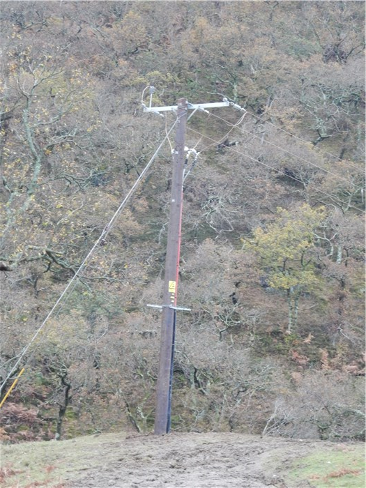 The cable from the Turbine House is connected to the overhead line 25 November 2015